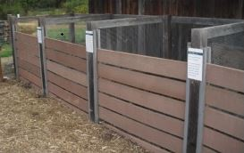 Demonstration of a multi-compost bin system at North Mountain Park. Photo courtesy of Jackson SWCD
