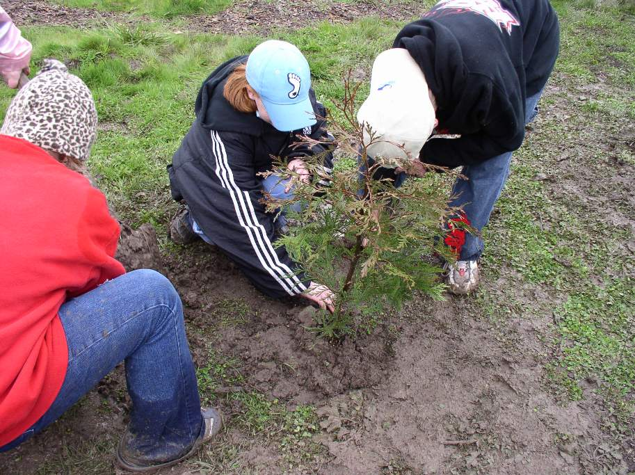 <b>Planting native trees and shrubs to restore streams and the Rogue River</b>